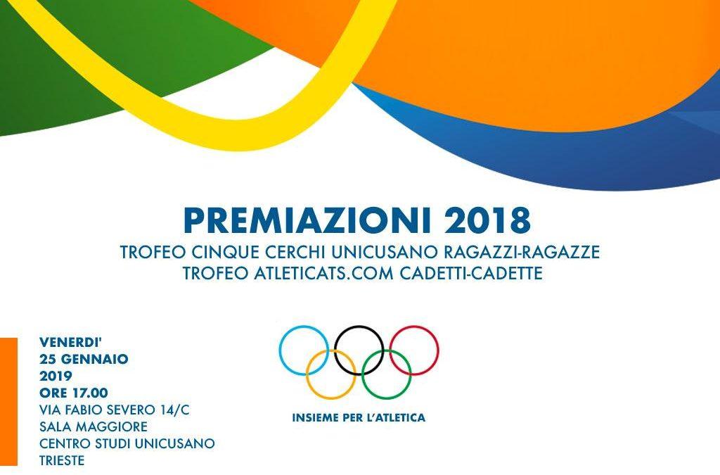 Premiazioni Trofeo Cinque Cerchi Unicusano 2018