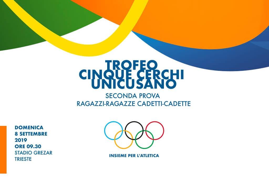 """Trofeo """"UNICUSANO"""" Cinque Cerchi 2019 – 2° prova"""